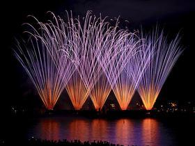 Silvester Feuerwerk am Wasser