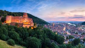 Heidelberg in Abenddämmerung