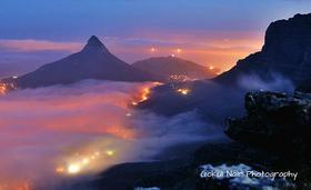 Tafelberg im Abendnebel