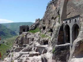 Höhlenstadt Wardsia in Georgien