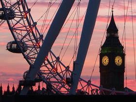 London im Sonnenuntergang