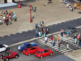 Mimiaturaufnahme einer belebten Straße